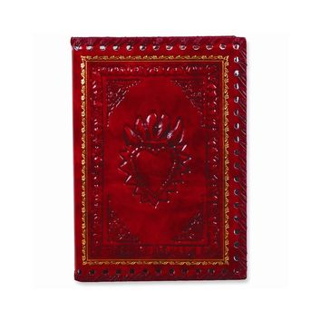 Red Romance Leather Refillable Journal - Embossing Personalized Gift Item