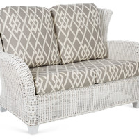 "Myrtle 53"" Love Seat, Gray/Cream, Outdoor Sofas & Love Seats"