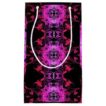 Hot Pink Vines Small Gift Bag