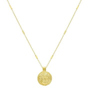 Mini Greek Coin Necklace