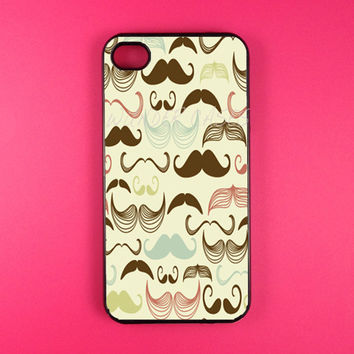 Iphone 4 Case - Multi Mustache Iphone Case,Iphone 4s Case