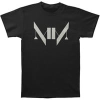 Marilyn Manson Men's  MM Logo T-shirt Black