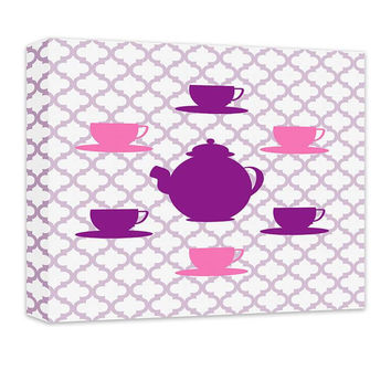 Tea Set Children's Canvas Wall Art