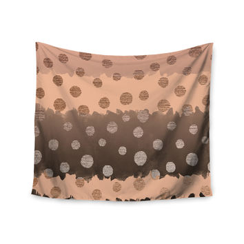 "Nika Martinez ""Earth Dots"" Brown Wall Tapestry"