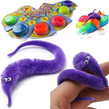 Magic Twisty Fuzzy Worm Wiggle Moving Sea Horse Kids Tricky Toy Stress Reliever