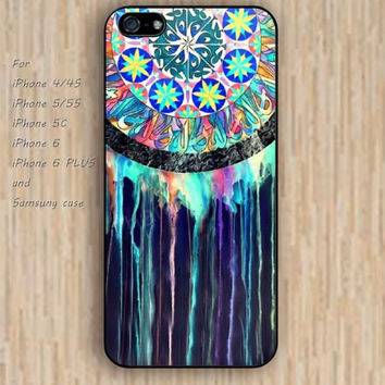 iPhone 4/4s 5s 6 case dream catcher blue watercolor dream catcher colorful phone case iphone case,ipod case,samsung galaxy case available plastic rubber case waterproof B634