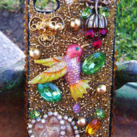 Gorgeous Golden Hummingbird iPhone 4/4s case