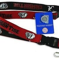 Alabama Crimson Tide 2-Tone Reversible Breakaway Lanyard: Ticket & Badge Holder