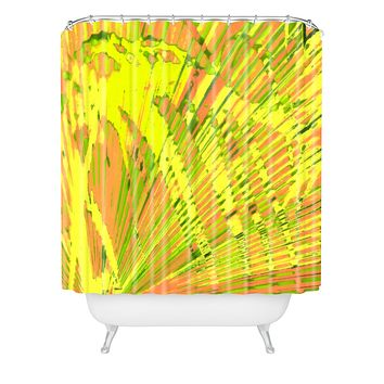 Rosie Brown Orange Palms Shower Curtain