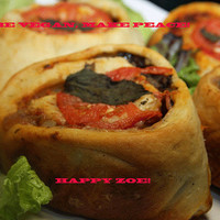 Vegan Amazing Pizza Rolls stuffed with mushrooms,veggies, natural,healthy ingredients,wedding,birthday,love.
