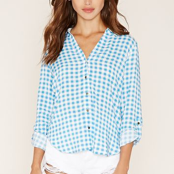 Checkered Button-Down Shirt