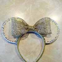 Glittering Gold Minnie Mouse Ears