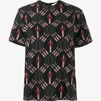 LOVE BLADE PRINT BLOUSE