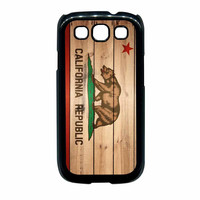 California Republic State Flag Wood Design Samsung Galaxy S3 Case