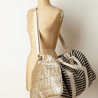 Anthropologie - Striped & Sequined Weekender