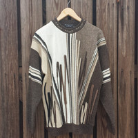 Vintage Brown Men's Sweater by PROTEGE - Bill Cosby Sweater - Size L