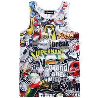 Cartoon Collage Tank
