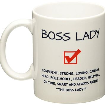 Funny Boss Lady Mug gifts novelty mug cups tea cup ceramic coffee mug tea mugs home decal