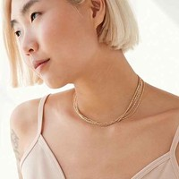 Layered Chain Short Necklace