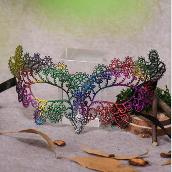 1PC Beautiful Lace Elegant Party Masks Halloween Venice Half Face Flower Mask Fancy Ball Party Princess Masquerade Masks PP0