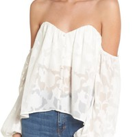 4SI3NNA Burnout Off the Shoulder Top | Nordstrom