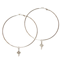 Wild Moon Silver Hoop Earrings