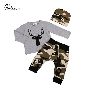 Abacaxi Kids Camouflage Deer Baby Boy Clothing Set