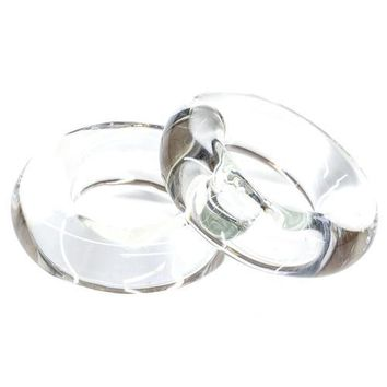 Tigress Glass Outrigger Rings - Pair