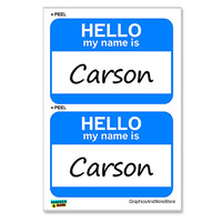 Carson Hello My Name Is - Sheet of 2 Stickers