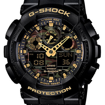 Casio G-Shock XL Mens Analog Digital Watch - Black & Metallic Camo Dial - 200m