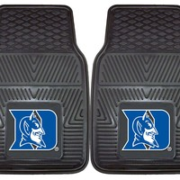 Duke Blue Devils Heavy Duty 2piece Vinyl Car Mats