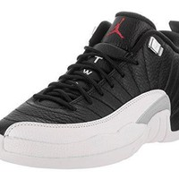 Nike Kid's Air Jordan 12 Retro Low BG Basketball Shoe jordans black and white