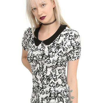 Skull Collar Girls Top
