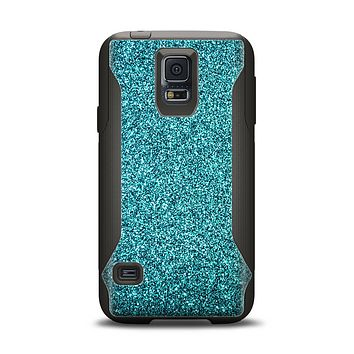 The Teal Glitter Ultra Metallic Samsung Galaxy S5 Otterbox Commuter Case Skin Set