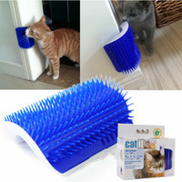 Pet Products Cats Supplies Cat Massage Device Self Groomer With Catnip Pet Toy For Cat Brush Comb