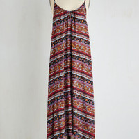 ModCloth Boho Long Sleeveless Maxi Balcony Beauty Dress