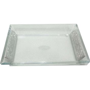 Crystal Challah Bread Tray Matching Salt & Pepper