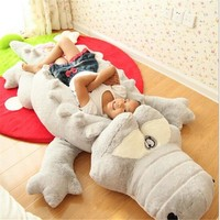 Creative Oversized Cute Crocodile Lying Section Plush Pillow Mat Plush Hand Doll Stuffed Toy Cartoon Plush Toys Kids Prize Gift