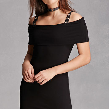 Grommet-Strap Bodycon Dress