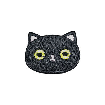 Cute Black Cat Patch Embroidered Cartoon Animal Sew on Iron on Patches
