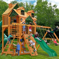 Gorilla Playsets Great Skye I Malibu Wooden Swing Set