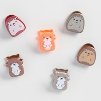 Woodland Animal Bag Clips 6 Count
