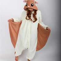 Adult Flying Squirrel Onesuit Pajamas Sleepwear Anime Cosplay Costume Unisex Cartoon Sleepsuit