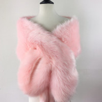Pink faux fur bridal wrap, Wedding Fur shrug, White Fur Wrap, Bridal Faux Fur Stole Fur Shawl Cape, wedding faux fur wrap