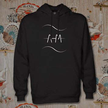 arctic monkeys wave Hoodie,Unisex Adults Size,Available Color White Black