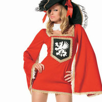 Red Witch Pirate Costumes lzq, Red Black S M L, very cheap sexy lingerie, cheap sexy costume, cheap halloween costume - Pirate Costumes HotSaleWear.Com