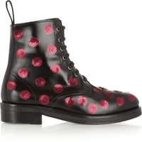 Markus Lupfer | Sequined polka-dot leather boots | NET-A-PORTER.COM