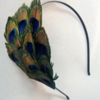 Vivid Peacock Eye Feather Headband
