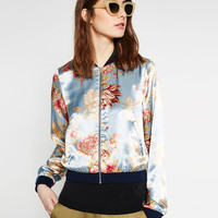 PRINTED BOMBER JACKET - BOMBERS-WOMAN | ZARA United Kingdom