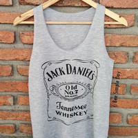 GREY Jack Daniels Tank Top Hipster tank top Tank top women Fitness top Summer Cloth Gift Summer fashion tshirt Vintage tank tops for woman